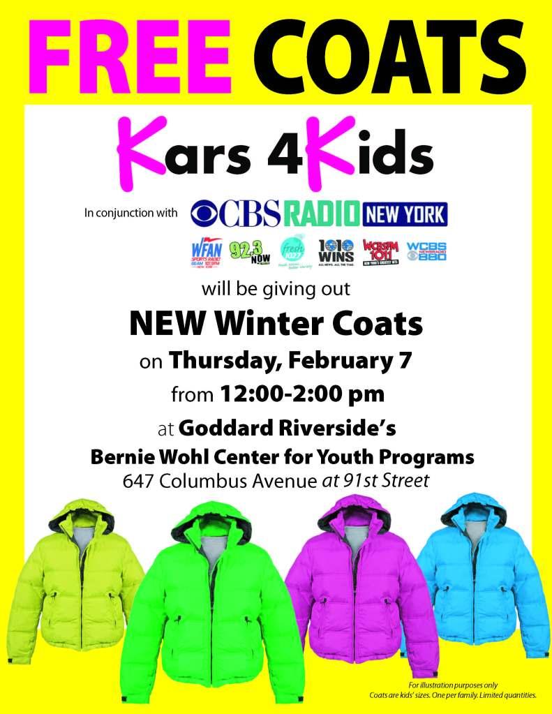 Free coats giveawayFLYER  2013 NY