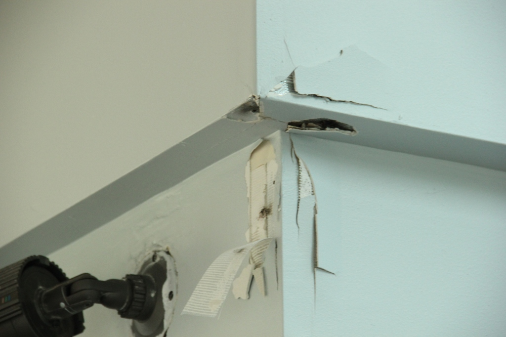 Damage to the Kars For Kids office