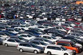 huge parking lot