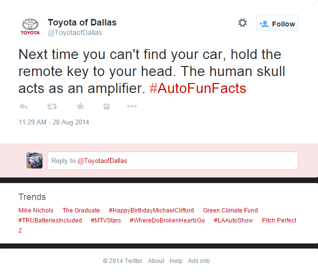 Toyota skull amplifier tweet