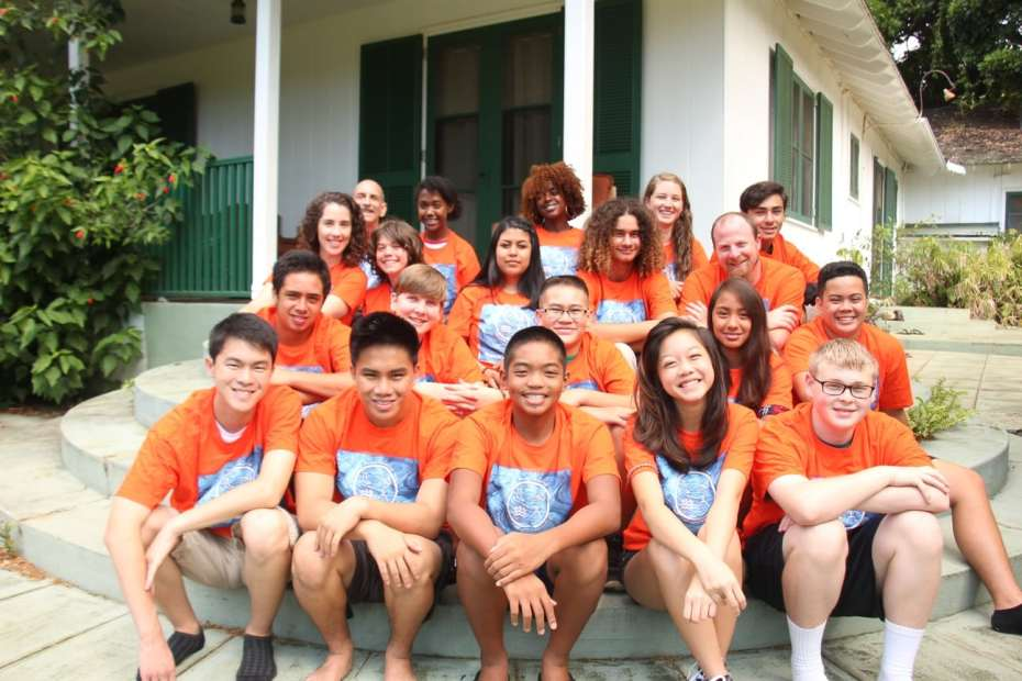 Group photo of campers at Science Camps of America