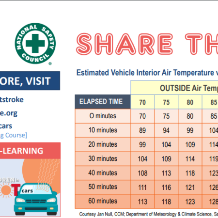 Children in Hot Cars Share This Chart
