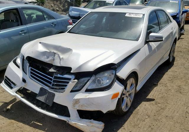 2013 Mercedes-Benz donation with smashed front end